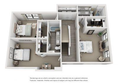 3 Bedrooms C1 Townhome